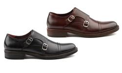 Vintage Foundry Men's Mock Monk Strap Dress Shoes - Burgundy - Size: 9