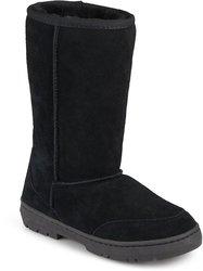 Brumby Women's Sheepskin Shearling Boots - Black - Size: 8