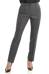 Rekucci Collection Women's Stretch Wool Tailored Pants (12,Grey Glencheck)