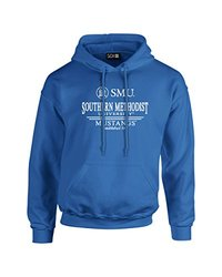 NCAA Smu Mustangs Classic Seal Long Sleeve Hoodie, Large, Blue