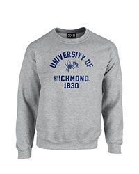 NCAA Richmond Spiders Mascot Block Arch Crew Neck Sweatshirt, XX-Large, Sport Grey