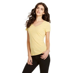 Mossimo Girls' Short Sleeve V-neck Summer Tee - Wheat - Size: XXL