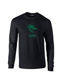 NCAA Alabama Birmingham Blazers Mascot Foil Long Sleeve T-Shirt, Large, Black