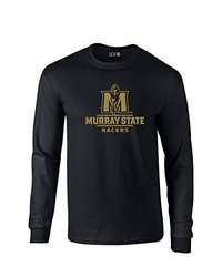 NCAA Murray State Racers Mascot Foil Long Sleeve T-Shirt, Small, Black
