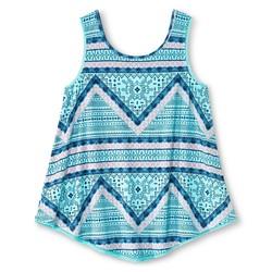 Xhilaration Girls' Crochet Trim Tank Top - Aqua - Size: XL