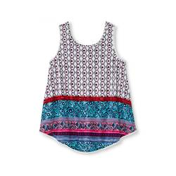 Xhilaration Kids Girls' Crochet Trim Tank Top - Ivory - Size: XL(14-16)