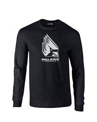 NCAA Ball State Cardinals Mascot Foil Long Sleeve T-Shirt, XX-Large, Black