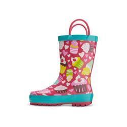 Washington Shoe Toddler Girl's Cupcakes Rain Boots - Fuchsia - Size: 9-10