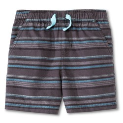 Circo Toddler Boys Strip Fashion Short - Charcoal - Size: 5T