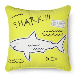 "Sabrina Soto 16""x16"" Charlie Shark Throw Pillow"