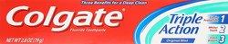 Colgate Triple Action Fluroid toothpaste 2.8 Oz - Original Mint - 12 Pack