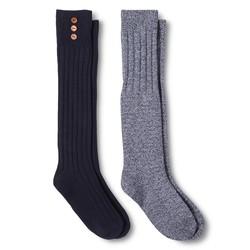 Merona Women's Casual Socks - 2 Pack - Xavier Navy - Size: 4-10