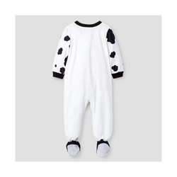 Paw Patrol Toddler Boys' Marshall Fleece Footed Sleeper - White - Size: 4T