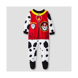 Paw Patrol Baby Boys' Marshall Fleece Footed Sleeper - White - Size: 18M