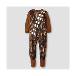 Star Wars Toddler Boys' Chewbacca Fleece Footed Sleeper - Brown - Size: 4T