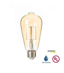 LED2020 LED Vintage Filament Bulb, ST21 Edison Style, 4.5W to Replace 40W Incandescent Bulb, Super Warm White (2400K), 120VAC, E26 Medium Base, Dimmable