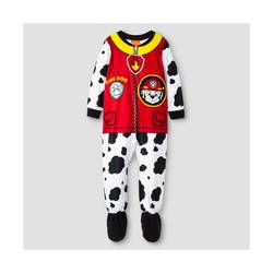 Paw Patrol Toddler Marshall Fleece Boys' Footed Sleeper - White - Size: 3T
