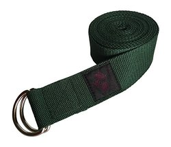 Clever Yoga 8-Foot Durable Cotton Yoga Strap - Green