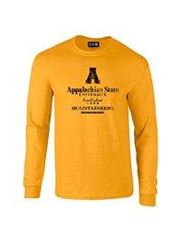 SDI Men's NCAA Stacked Vintage Long Sleeve T-Shirt - Gold - Size: X-Large
