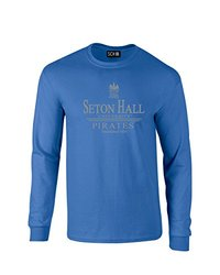 NCAA Seton Hall Pirates Classic Seal Long Sleeve T-Shirt, Small, Royal