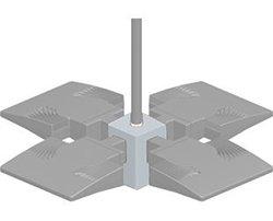 RAB Lighting PAD4W-3/4  Pendant 4X Adaptor 3/4 Nps, White