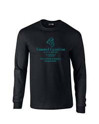 NCAA Coastal Carolina Chanticleers Stacked Vintage Long Sleeve T-Shirt, Large, Black