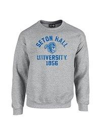 NCAA Seton Hall Pirates Mascot Block Arch Crew Neck Sweatshirt, XX-Large, Sport Grey