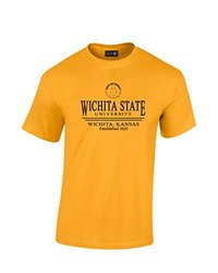 NCAA Wichita State Shockers Classic Seal T-Shirt, X-Large, Gold