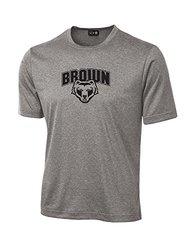 NCAA Brown Bears School Standard Mascot Tech Performance T-Shirt, Medium, Sport Grey