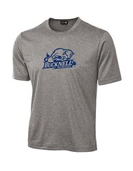 NCAA Bucknell Bison School Standard Mascot Tech Performance T-Shirt, X-Large, Sport Grey
