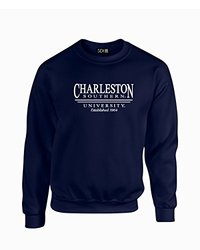 NCAA Charleston Southern Buccaneers Classic Seal Crew Neck Sweatshirt, Large, Navy