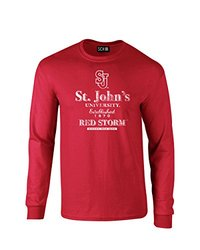 NCAA St. John'S Red Storm Stacked Vintage Long Sleeve T-Shirt, Large, Red