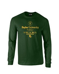 NCAA Baylor Bears Stacked Vintage Long Sleeve T-Shirt, Large, Forest