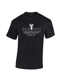 NCAA Ball State Cardinals Classic Seal T-Shirt, Small, Black