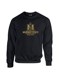 NCAA Murray State Racers Mascot Foil Crew Neck Sweatshirt, Large, Black