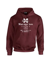 Sdi NCAA Men's Stacked Vintage Long Sleeve Hoodie - Maroon - Size: Small