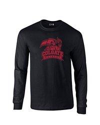 NCAA Colgate Raiders Mascot Foil Long Sleeve T-Shirt, Medium, Black