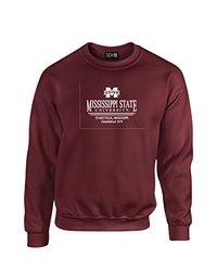 NCAA Mississippi State Bulldogs Classic Seal Crew Neck Sweatshirt, XX-Large, Maroon