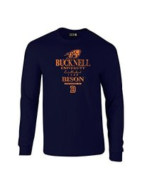 NCAA Bucknell Bison Stacked Vintage Long Sleeve T-Shirt, XX-Large, Navy