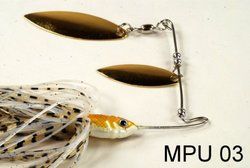 Akuna [MPU] 1/2-Ounce Custom Hand Painted Holographic Fishing Lures with Willow Blades, [PU 03], Three of One Color