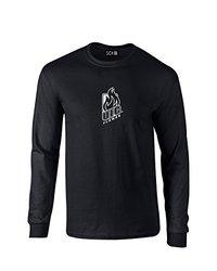 NCAA Illinois Chicago Flames Mascot Foil Long Sleeve T-Shirt, X-Large, Black