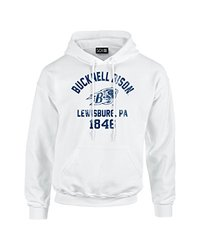 NCAA Bucknell Bison Mascot Block Arch Long Sleeve Hoodie, XX-Large, White