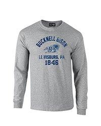 NCAA Bucknell Bison Mascot Block Arch Long Sleeve T-Shirt, Medium, Sport Grey