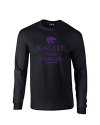 NCAA Kansas State Wildcats Stacked Vintage Long Sleeve T-Shirt, Medium, Black