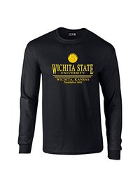 NCAA Wichita State Shockers Classic Seal Long Sleeve T-Shirt, X-Large, Black