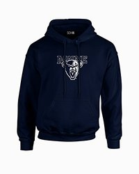 NCAA Maine Black Bears Mascot Foil Long Sleeve Hoodie, Medium, Navy