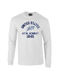 NCAA Navy Midshipmen Mascot Block Arch Long Sleeve T-Shirt, Small, White