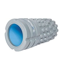 Exous Bodygear Performance [EXTRA High Density] Grid Foam Roller Advanced Trigger Point Massage Therapy with Video Instruction - FIRM MASSAGE!