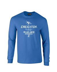 NCAA Creighton Bluejays Stacked Vintage Long Sleeve T-Shirt, Medium, Royal
