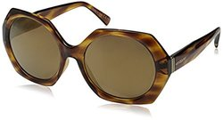 VonZipper Women's Buelah Round Sunglasses, Tortoise/Gold, 55 mm